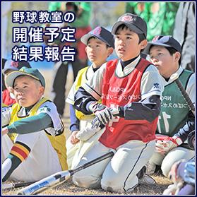 野球教室の開催予定、結果報告