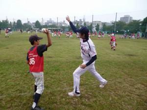 投球練習②